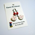 earrings that look like baseballs by Karen Roodman