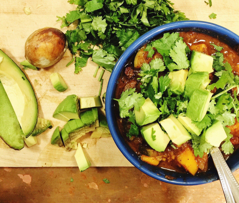 balanced beef and veggie chili