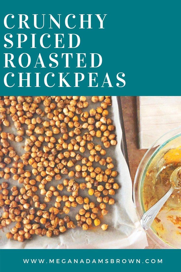 crunchy spiced roasted chickpeas