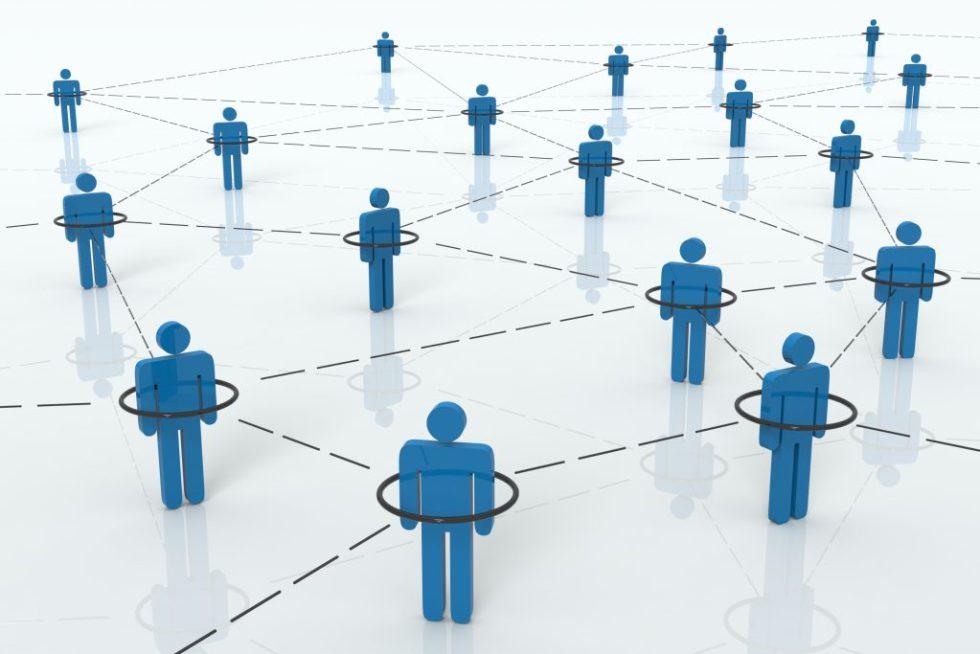 Illustrasjon av nettverk av mennesker