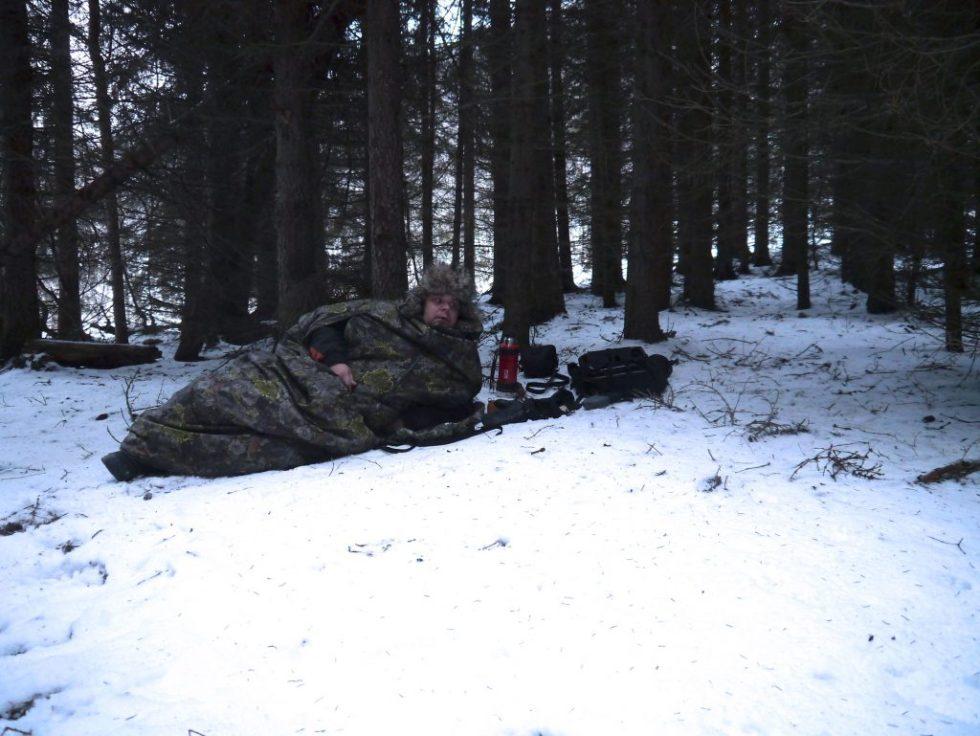 Jervenduken er bra hjelpemiddel om du skal trene på frisøk og sitte ute i skogen i 4-5 timer.