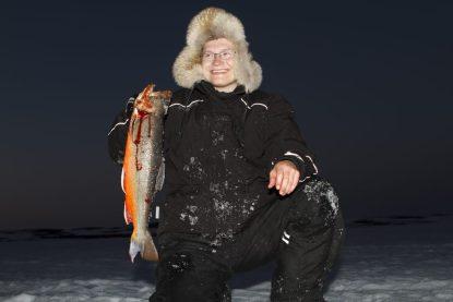 Bilde av Kjetil Reiersen med røye