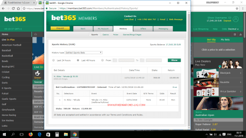 BET365 PROOF FIXED MATCH