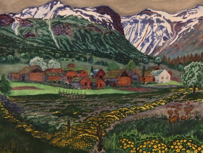 """Soleienatt"" by Nicolai Astrup (1880-1928)"