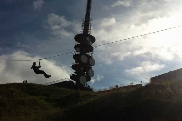 Zipline on Mt. Ulriken