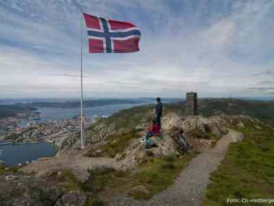 Scenic views of Bergen on the Vidden Panoramic trip