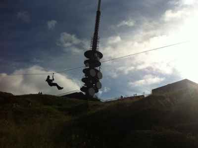 Zipline on Mt. Ulriken, Bergen