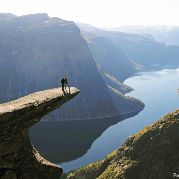 Scenic views at Trolltunga
