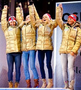 Norways gold medal-winning relay team.