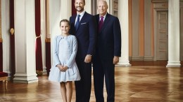Princess Ingrid Alexandra, Crown Prince Haakon and King Harald of Norway