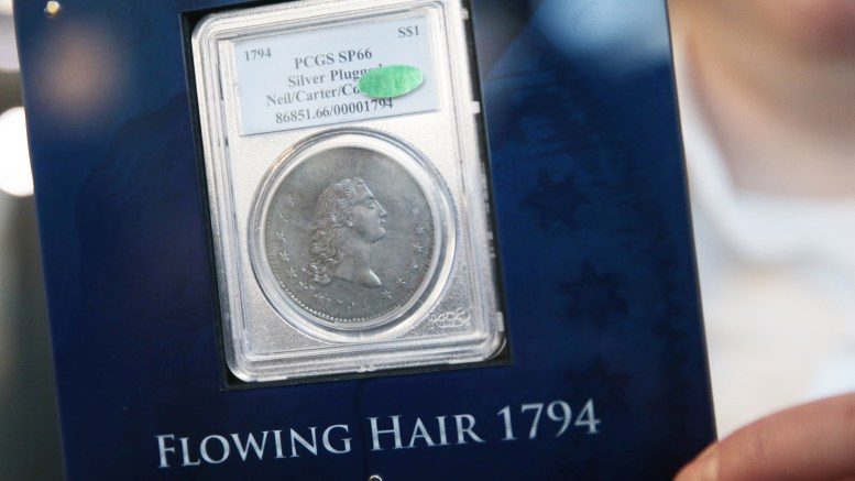 The world's most expensive coin - one silver dollar from 1794 - this week is on display in Oslo.