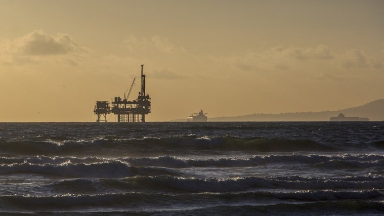 Oil platform, trade surplus