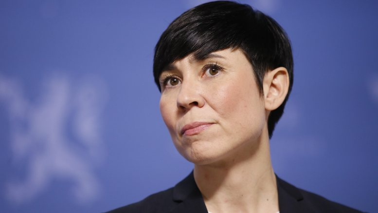 Minister of Foreign Affairs Ine Eriksen Søreide (Conservative Party)