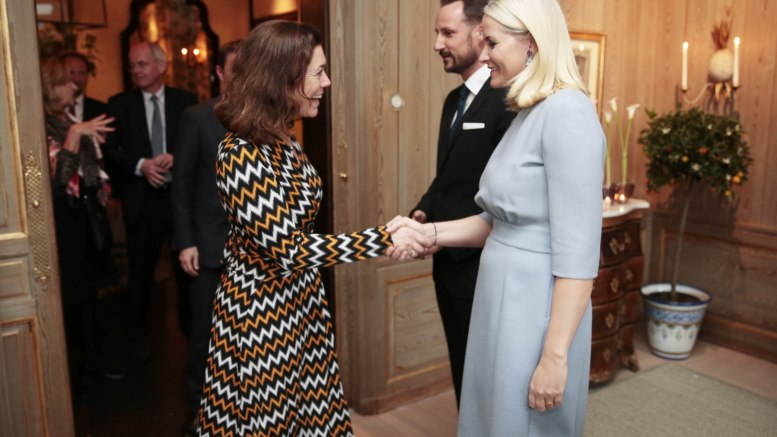 Crown Prince Haakon and Crown Princess Mette-Marit receives CEO of NHO Kristin Skogen Lund