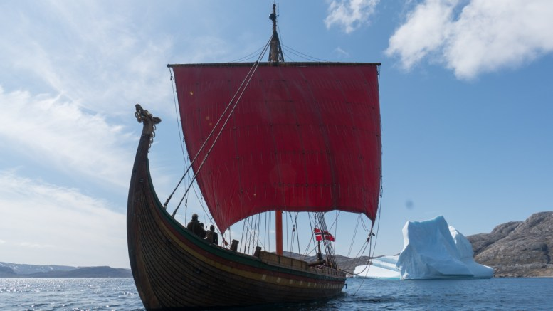 Viking ship. DRAKEN HARALD HÅRFAGRE, World Heritage Site