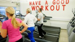 training in the fitness center