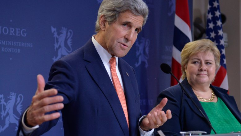 US Secretary of State John Kerry and Prime Minister Erna Solberg holds press conference