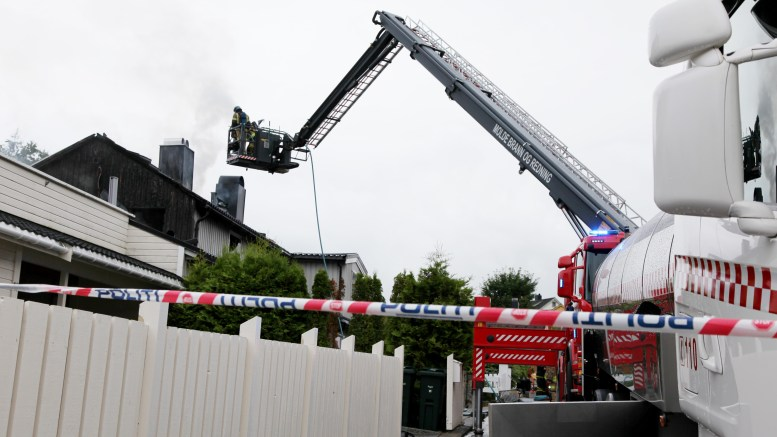 residential fire in Molde