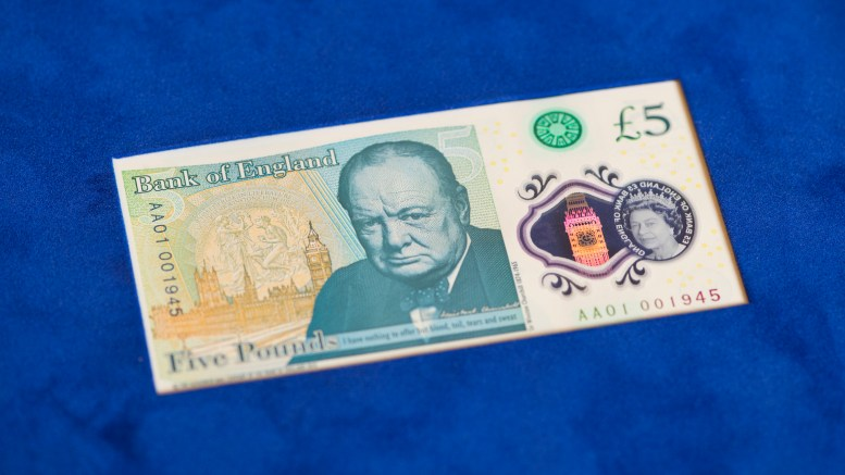 English five pound note