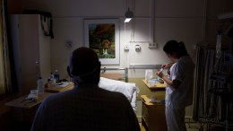Nurses on the job at Oslo University Hospital, the Norwegian Radium hospital in Oslo, Norway.
