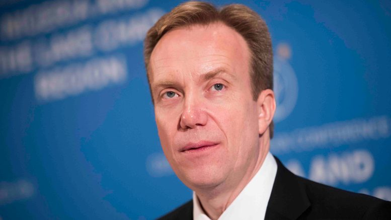 Minister of Foreign Affairs, Børge Brende (Conservatives)