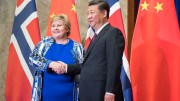 Prime Minister Erna Solberg and China President Xi Jinping