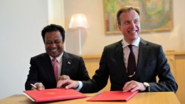 Minister of Foreign Affairs Børge Brende President Tommy Remengesau Palau