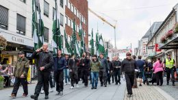 Neo nazi demonstration in Kristiansand Nazi march