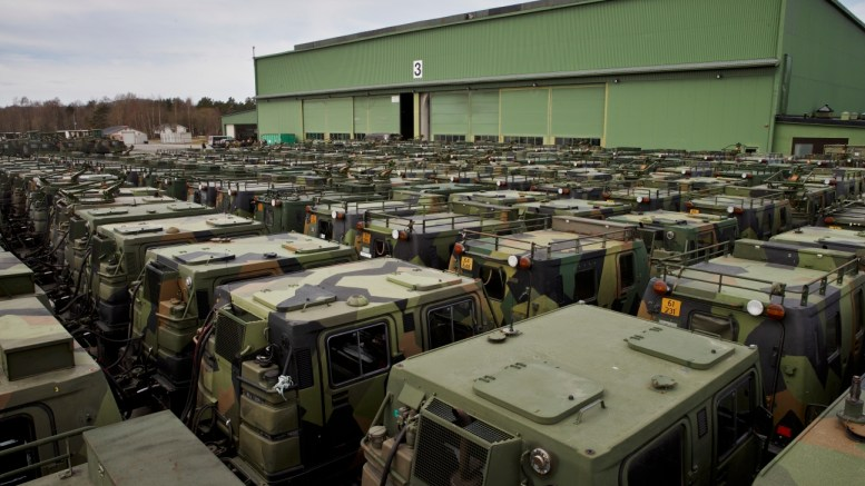 Military vehicles Værnes airbase defense employee