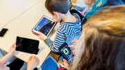 Pupils on mobile and ipads