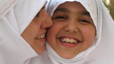 Mother daughter Muslim Immigrant