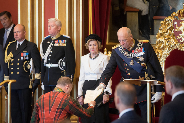 King Harald state of the Kingdom MPs Parliament Storting