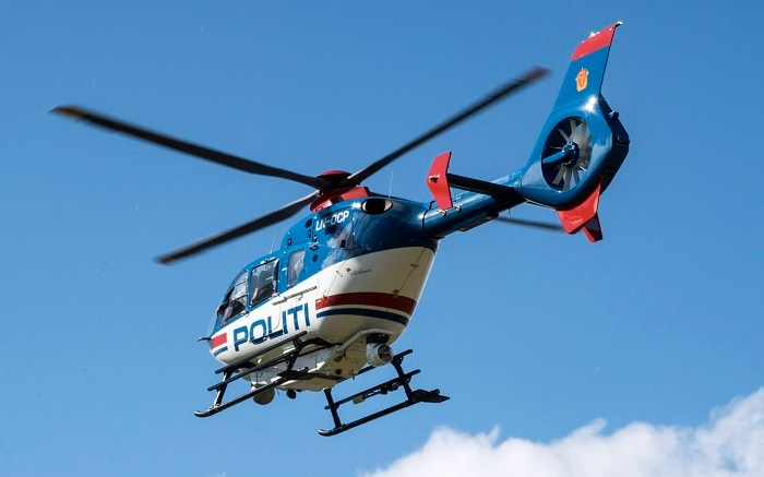Police helicopter Armed man