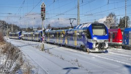 Commuter train østfold rail line