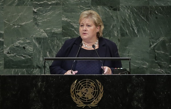 Erna Solberg, Prime Minister of Norway,
