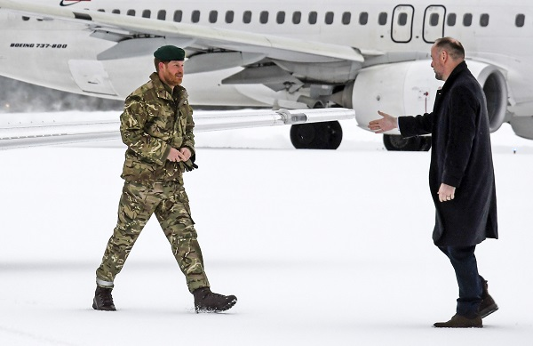 Prince Harry visits military exercises in Bardufoss