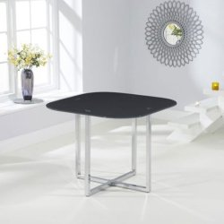Abingdon Grey Glass Dining Table