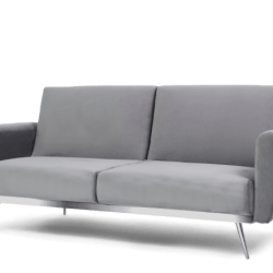 Elsa Grey Velvet Sofa Bed