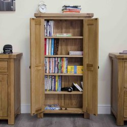 Oak DVD /CD Storage