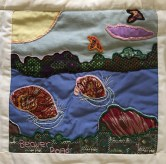Beaver in Meadow Pond. Margaret McWilliams, Quilter