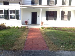 Our beautiful new walkways! What a wonderful entrance to the Lewis House!