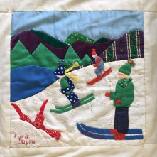 Ford Sayre Skiing. Evelyn Frank, Quilter
