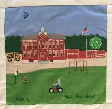 Marion Cross School. Louise Benson, Quilter