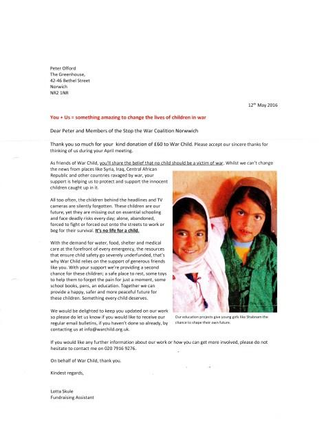 Warchild donation.16