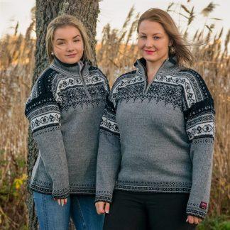 Trysil grå stickad norsk tröja från Norwool