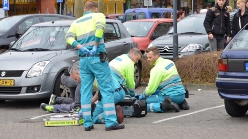 Medics try in vain to save the life of Rudi Schouten