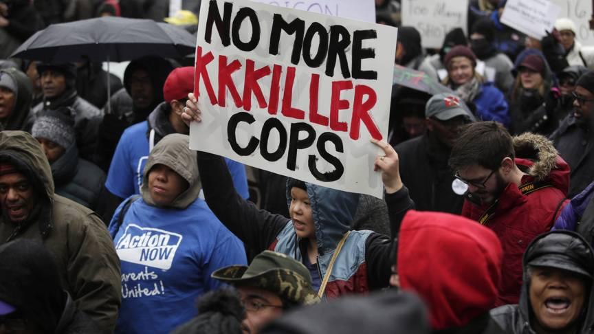 Chicago demonstration, AFP photo