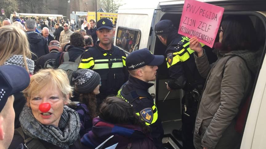 Dutch anti-Wilders demonstration