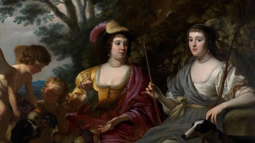 Amalia van Solms portrait by Honthorst