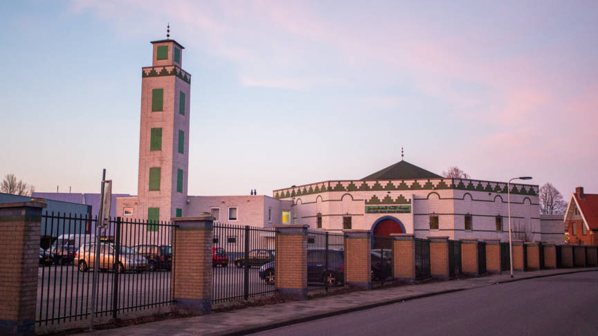 Enschede mosque at which a firebomb was thrown, Ginopress photo